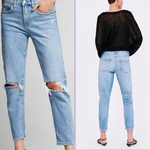 Zara The Slim Boyfriend Jean in Venice Blue